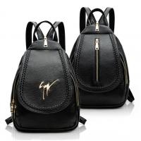 Buy cheap Daily Small Fashion Ladies Backpack Black Korean Style PU Leather Vintage from wholesalers