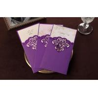 Best Purple Strong Paper Greeting Card Off Printing 10 * 20cm OEM wholesale