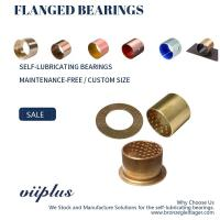 Best CuSn8 Bronze Sleeve Flanged Bearings Diamond Indentations Or Stamped With Oil Grooves wholesale