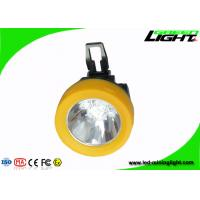 Buy cheap Anti Flame Miners Cap Lamps Cordless 3.8Ah Battery 13 - 15hours Working Time from wholesalers