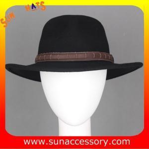 Best 2050377 Sun Accessory customized  winter 100% wool felt fashion style fedora  hats  ,unisex hats and caps wholesaling wholesale