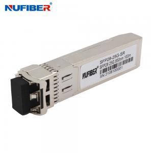 Best 25G SFP+ Duplex LC 1310nm 10KM DFB Optical Module Transceiver wholesale