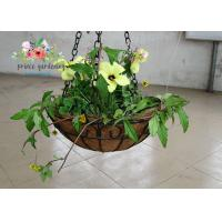Best Wall Decor Indoor Hanging Flower Baskets , Round Hanging Plant Holders wholesale