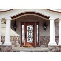Best Personal Style Spray Coating Wrought Iron Glass Door With Hot Dipfabricated wholesale