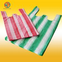 China plastic carrier bags/hdpe plastic striped t-shirt bags on sale