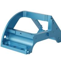 Buy cheap Custom CNC Machining anodized blue Aluminum parts from wholesalers