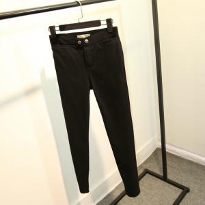 Best Button Closure Black Womens Jogging Bottoms , Plus Size Ladies Jogging Pants wholesale