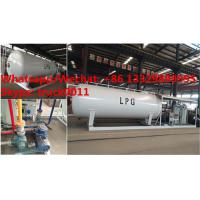 Cheap customized mobile skid propane gas refilling station with 4 digital weighting scales for sale, skid lpg gas plant for sale