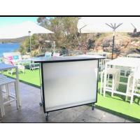 China Juice Mobile Bar Counter With Ice Bin / Wine Rack Folding For Weddding Events on sale