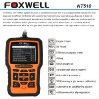China FOXWELL NT510 OBDII Car Diagnostic Scan Tool , Multi-system Code Reader Scanner on sale