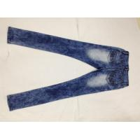 Best Broken Hole Womens Designer Tapered Pencil Jeans Pants Stone Washed Wear Resistant wholesale