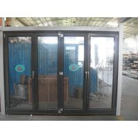 Cheap 1.8mm profile thickness aluminum bifold doors with wood grain surface treament for sale