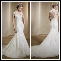 China Vintage Romantic Lace Wedding Gowns , Mermaid Dresses Open Back Bridal Gowns on sale