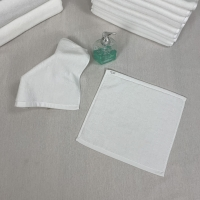 China Square Azo Free Plain White Hand Towels on sale