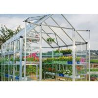 China White Clear One Stop Gardens Greenhouse , 10mm Polycarbonate Sheet Greenhouse on sale