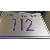 China 3mm  Custom Metal Signs Brushed Stainless Steel Metal Plaques With Uv Printed Text on sale