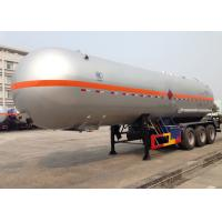 China 3 Axles Liquefied Petroleum LPG Tank Trailer , Liquid Ammonia Tank Trailers 45000L on sale