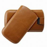 Best Cell Phone Pouch for iPhone 4/4S, Made of PU Leather Material with Retractable Pull-tab wholesale