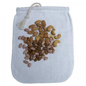 China 12×14 Inch Cotton Hemp Nut Milk Bags , Coffee Strainer Bag LFGB Approval on sale