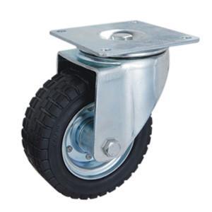 China Heavy duty Rubber twin wheels caster on sale