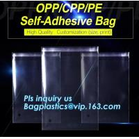 China CPP/PET Plastic Cellophane Packaging Bags for Clothes,Biodegradable OPP CPP Cheap Plastic Garment Bags bagease bagplasti on sale