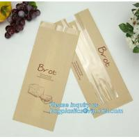 China China factory custom printed paper bread bags,Food grade custom made kraft paper stick bread bags with window, limited on sale