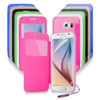 Buy cheap Windows S - view Battery flip cell phone cases For Samsung Galaxy S6 G9200 product