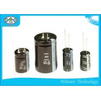 China Standard Frequency Electrolytic Radial Capacitor , Black 22000uf 25v Capacitor CD110 on sale