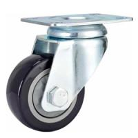 China Swivel castor wheel,black PVC medium duty castor wheel,hole top castor wheel,caster wheel,trolley caster on sale