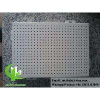 China Exterior round hole perforated sheet metal Aluminum panel for facade or ceiling on sale