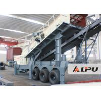 Best Wheel Type Axle Complete Mobile Crushing And Screening Plant , Mobile Rock Crusher wholesale