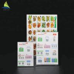 Best Customized Clear Acrylic Slanted Design menu holder acrylic Sign wholesale