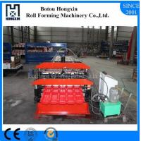 Best Double Layer Glazed Tile Roll Forming Machine For Roofing Panel 72mm Roller wholesale