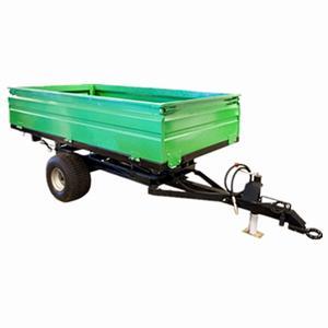 China 2wheel Tractor end dump trailer  load capacity 1ton 2ton 3ton 4ton 5ton on sale