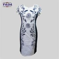 Best Elegant round neck embroidery summer one piece party swing dress dinner dresses western wear for ladies wholesale