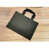 Best Recyclable SGS FDA Certified Tote Paper Bags With Black Silk Ribbon Handle wholesale