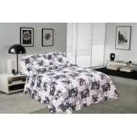 Best Blue Square Printed Quilt Set Machine Washing In Cold Water Separately For Family wholesale