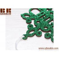 Best Personalized Christmas Snowflake / Green Glitter Snowflake, Wooden Snowflake Ornament, Christmas Decorations wholesale