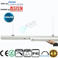 Best Connectable 4 Feet 50W Linear LED Light Fixtures Low Light Decay CE RoHS Listed wholesale