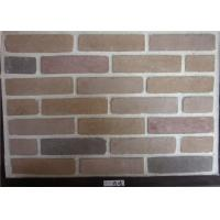 China Wide Faux Stone Veneer , Exterior Faux Brick Wall Panels Cement Material on sale