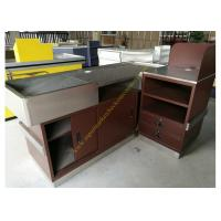 Best Stainless Steel Supermarket Checkout Counter / Store Non Electric Cashier Desk wholesale