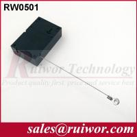 Buy cheap Market Purchase Retractable Retail Security Cable With Ring Terminal 7.1x4.5x2.1 Cm product
