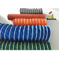 Best Insulated High Temperature Flexible Duct , Flame Resistant PVC Ventilation Ducting wholesale