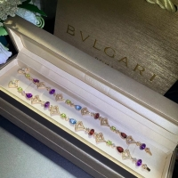 Best luxury jewelry in china Natural Colored Iconic Pattern 18k Gold Gemstone Bracelet wholesale