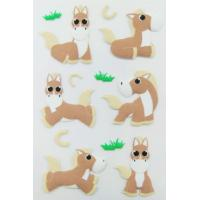Best Personalized Farm Animal Stickers , Promo Horse Shape Small 3d Stickers wholesale
