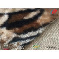 Best Short Pile Patterned Polyester Velvet Fabric For Chair Cover / Bag / Shoes wholesale