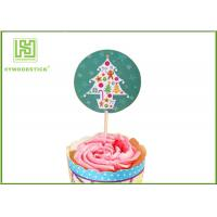 Best Holiday Chocolate Cake Decoration Toppers Christmas Cupcake Picks CMYK Colors wholesale
