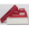 Rings Earrings Paper Jewelry Box Case Cardboard Handmade Custom Logo Color for sale