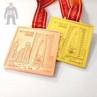 Best Golden  Silver Metal  Square Medal   For Trophies   Stainless Steel Material wholesale