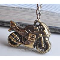 Best Promotional metal motorcycle drop pendant keychain,brass plated motorcycle charm ornament, wholesale